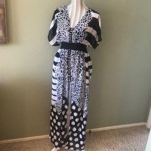 Peppe Peluso Dresses - Fun, SEXY sheer, flowing, open slits dress